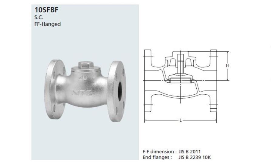 Lift Check Valve Kitz 10SFBF JIS10K0